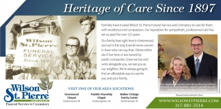 Heritage Of Care Since 1897