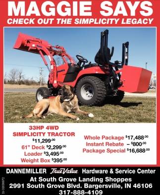 33HP 4WD Simplicity Tractor
