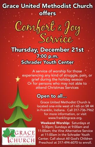 Comfort And Joy Service