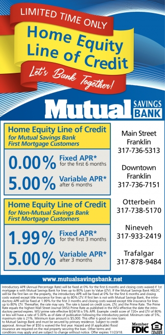 Limited Time Only, Home Equity Line Of Credit