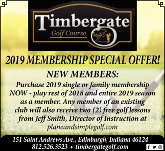 2019 Membership Special Offer