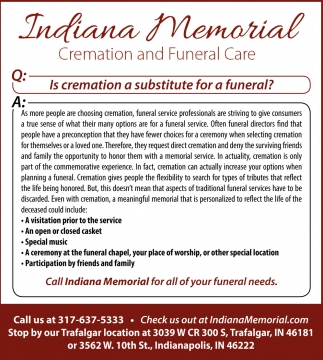 Is Cremation A Substitute For A Funeral?