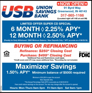 Maximizer Savings