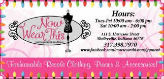 Fashionable Resale Clothing