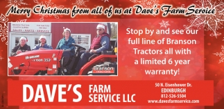 Merry Christmas From All Of Us At Dave's Farm Service