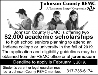 $2,000 Academic Scholarships