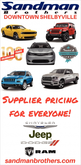 Supplier Pricing For Everyone!