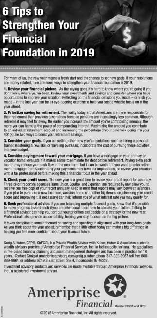 6 Tips To Strenthen Your Financial Foundation In 2019