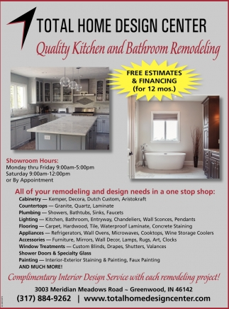 Quality Kitchen And Bathroom Remodeling , Total Home Design Center
