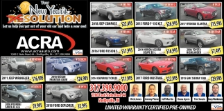 Limited Warranty Certified Pre-Owned