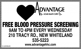 Free Blood Pressure Screening