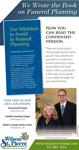 We Wrote The Book On Funeral Planning