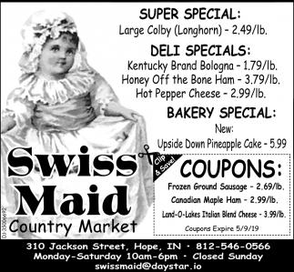 Super Special - Deli Special - Bakery Special