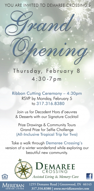 You Are Invited To Demaree Crossing's Grand Opening