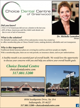 Choice Dental Centre Of Greenwood