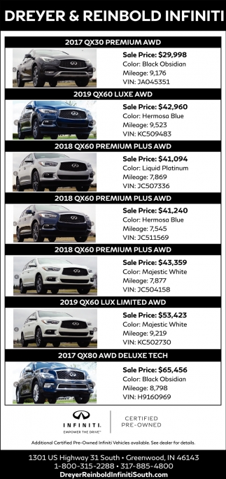 2017 QX30 Premium AWD