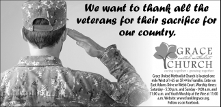 We Want To Thank All The Veterans