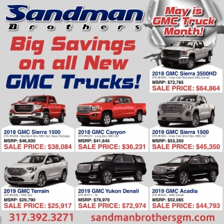 May Is GMC Truck Month!