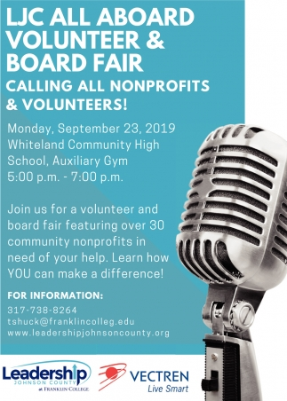 LJC All Aboard Volunteer & Board Fair