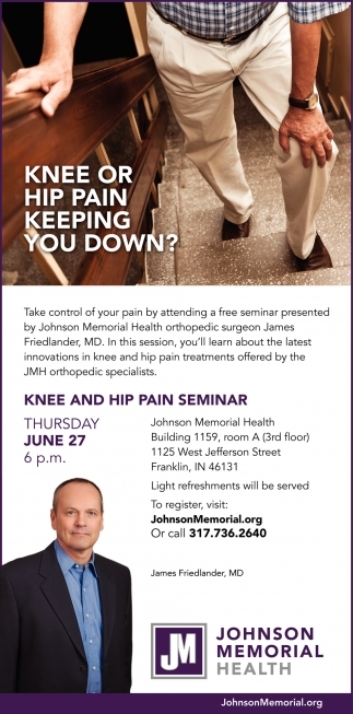Knee Or Hip Pain Keeping You Down?