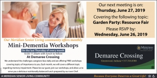 Mini-Dementia Workshops