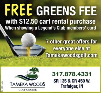 Free Greens Fee