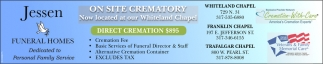 Onsite Crematory Now Located At Whiteland Chapel