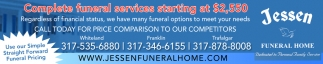 Complete Funeral Services Starting At $2,550