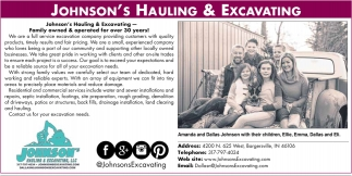 Johnson's Hauling & Excavating