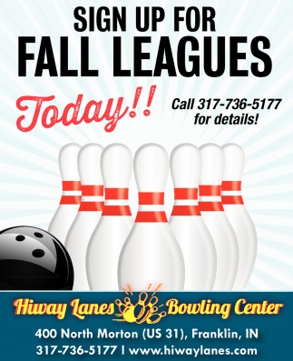 Sign Up For Fall Leagues Today!!