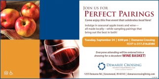 Join Us For Perfect Pairings