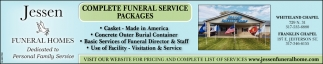 Complete Funeral Service Packages
