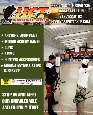Archery Equipment - Indoor Archery Range - Guns - Ammo
