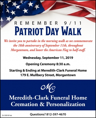 Remember 9/11 Patriot Day Walk