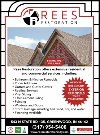 We Do All Interior/ Exterior Remodels To Fit Your Needs!