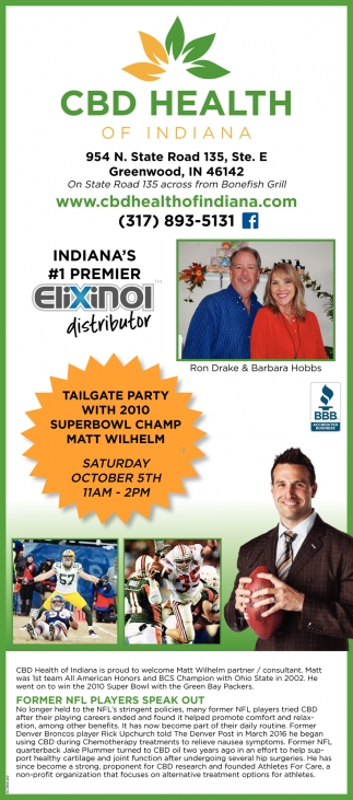 Tailgate Party With 2010 Superbowl Champ Matt Wilhelm