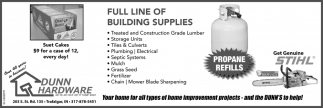 Full Line Of Building Supplies