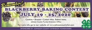 Blackberry Baking Contest
