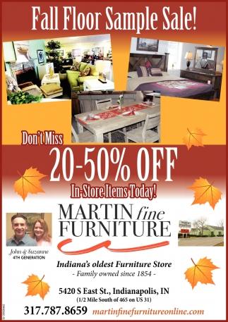 Fall Floor Sample Sale!
