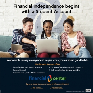 Financial Independence Begins With A Student Account