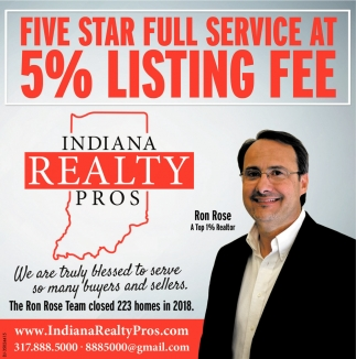 Five Star Full Service At 5% Listing Fee