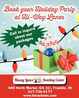 Book Your Holiday Party At Hi-Way Lanes
