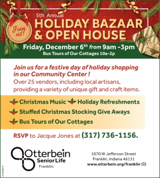 Holiday Bazaar & Open House