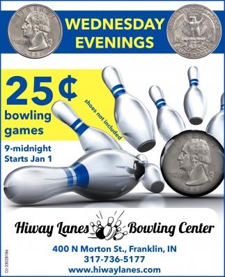 25c Bowling Games