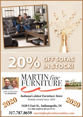 20% Off Sofas In Stock!