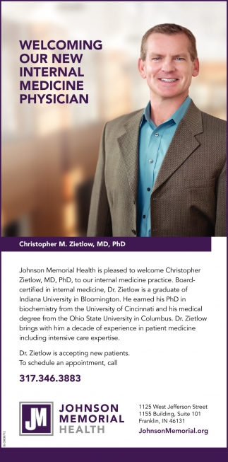 Welcoming Our New Internal Medicine Physician