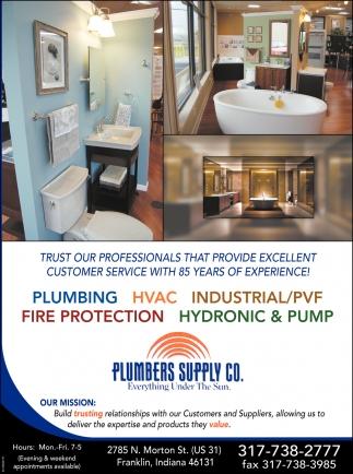 Plumbing - HVAC -- Industrial/PVF