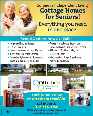 Cottage Homes For Seniors!