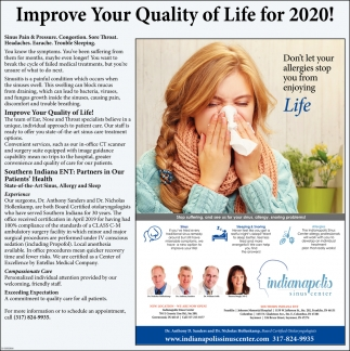 Improve Your Quality Of Life For 2020!