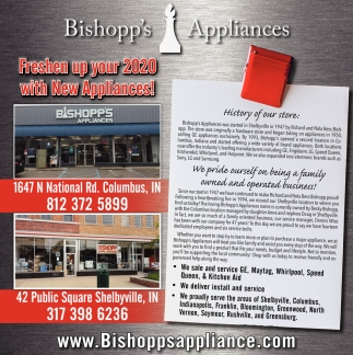 Freshen Up Your 2020 With New Appliances!